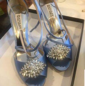 Badgley mischka wedding shoes blue
